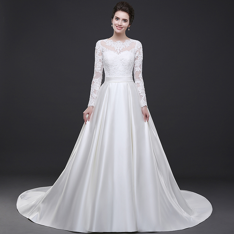 White Wedding Dress Under 500: Satin Wedding Gown