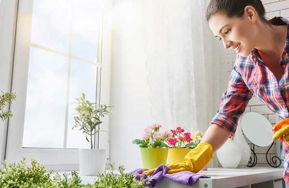 How to clean a living room in few minutes