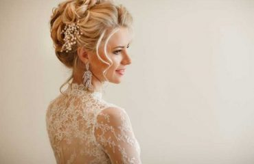 Bridal hairstyle for long medium hair